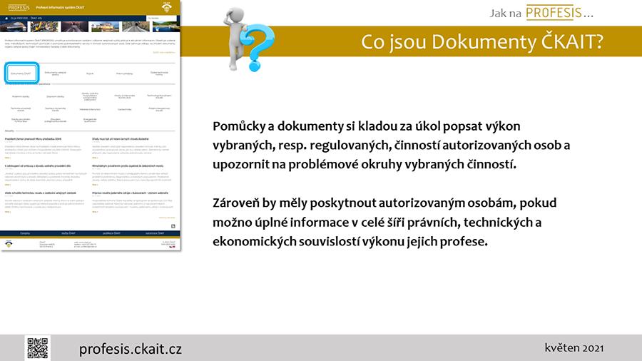 Nápověda pro dokumenty ČKAIT.