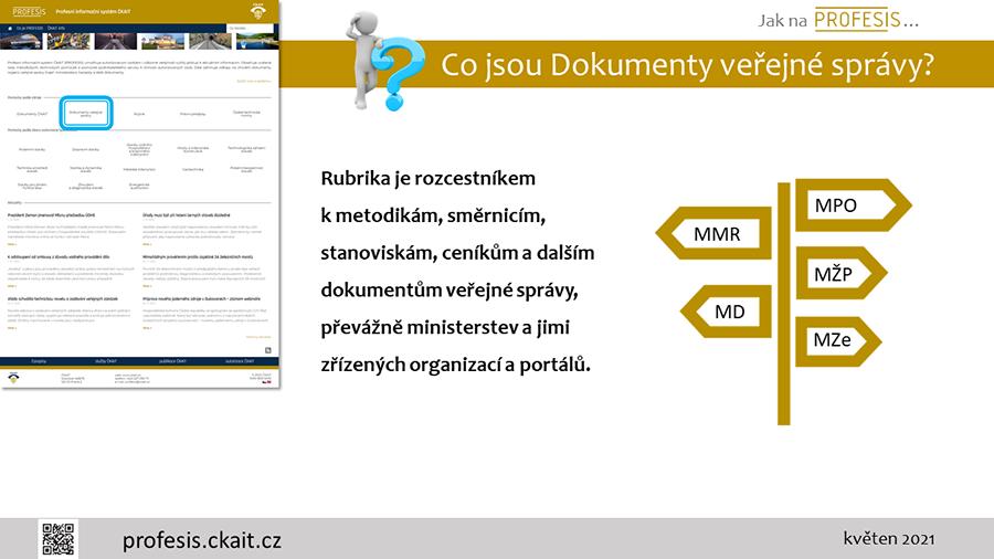 Nápověda pro dokumenty veřejné správy.